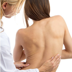 Scoliosis is a curved spine