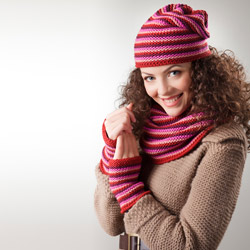 Woman rugged up for winter